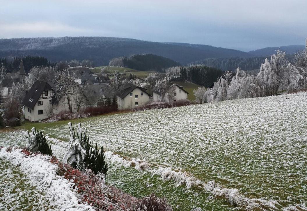 Raueisgrenze nahe Winterberg 400-500 Meter, 6. Dezember 2014