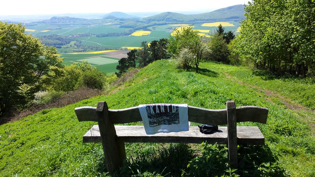 Aussicht vom hohen Dörnberg nach Westen, 8. Mai 2016