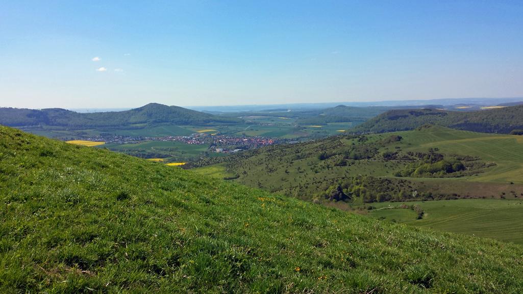 Aussicht vom hohen Dörnberg nach Nordwesten, 8. Mai 2016