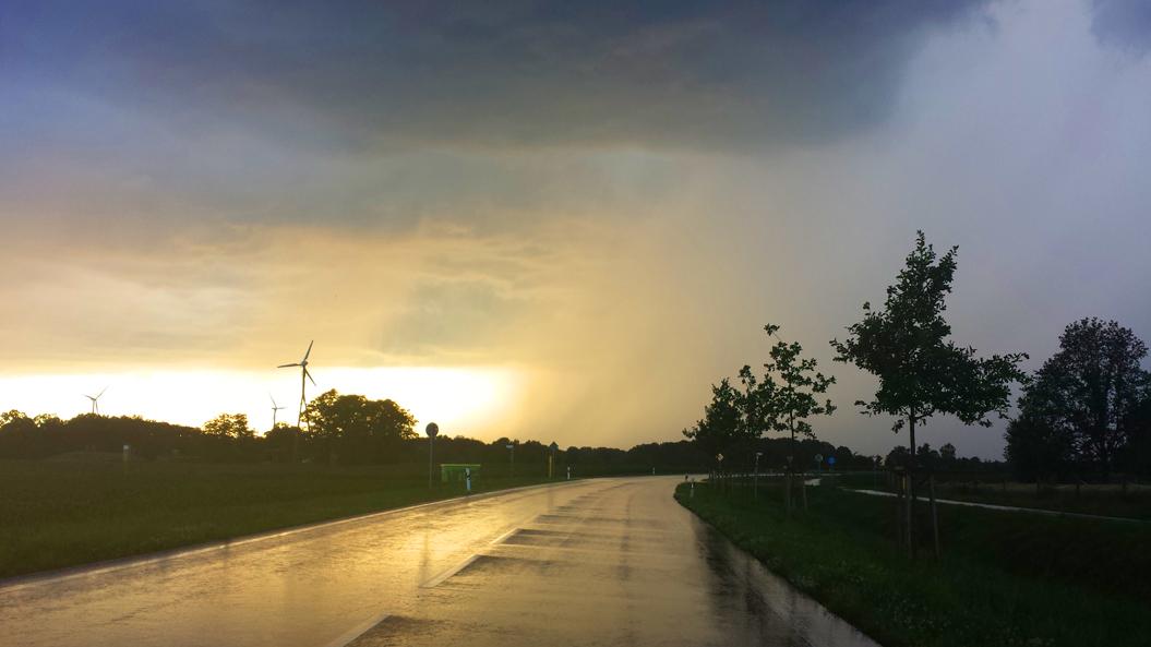 Gewitterbeobachtung bei Telgte, 23. Juni 2016