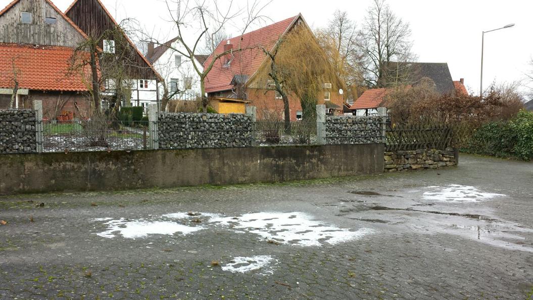 Egon brachte wenig Schnee in Steinheim, 13. Januar 2017