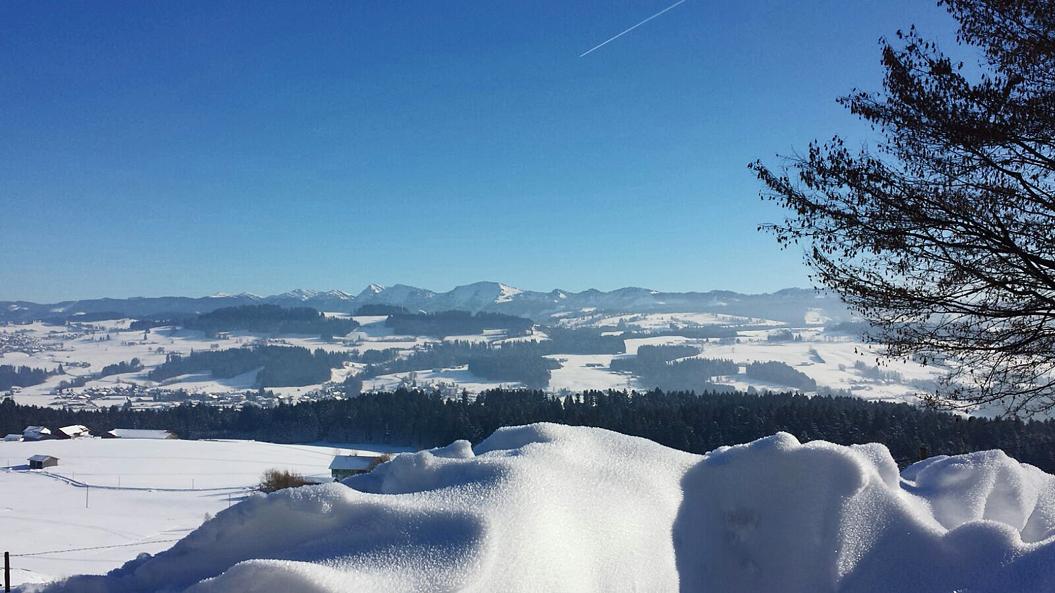 Nagelfluhkette mit Hochgrat bei Oberreute, B 308