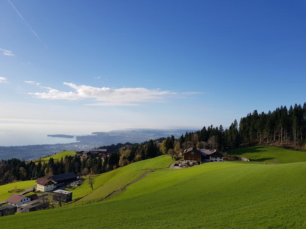 Aufstieg zum Hochberg, Blick nach Westen, 1 November 2017