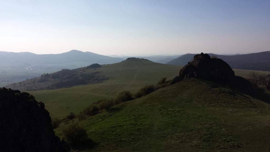 Fast wie in den Alpen: Der hohe Dörnberg bei Kassel-Zierenberg, 9. April 2017