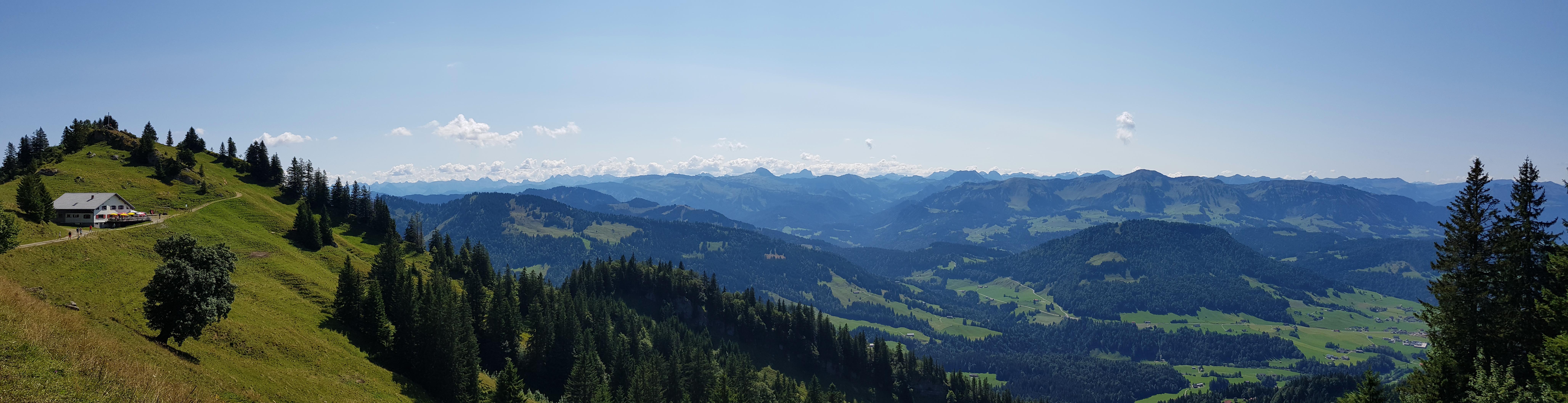Panorama Hochhäderich mit Blick nach Süden, 16. August 2018