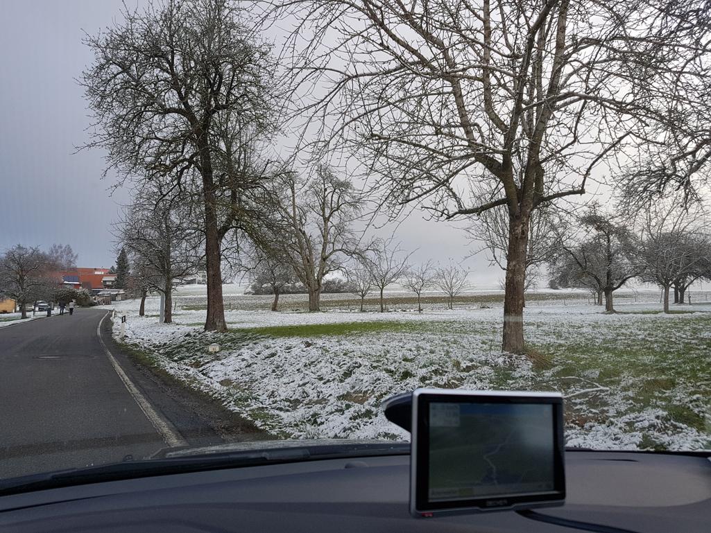 Auf 650 Metern schon etwas mehr Schnee, 26. November 2017