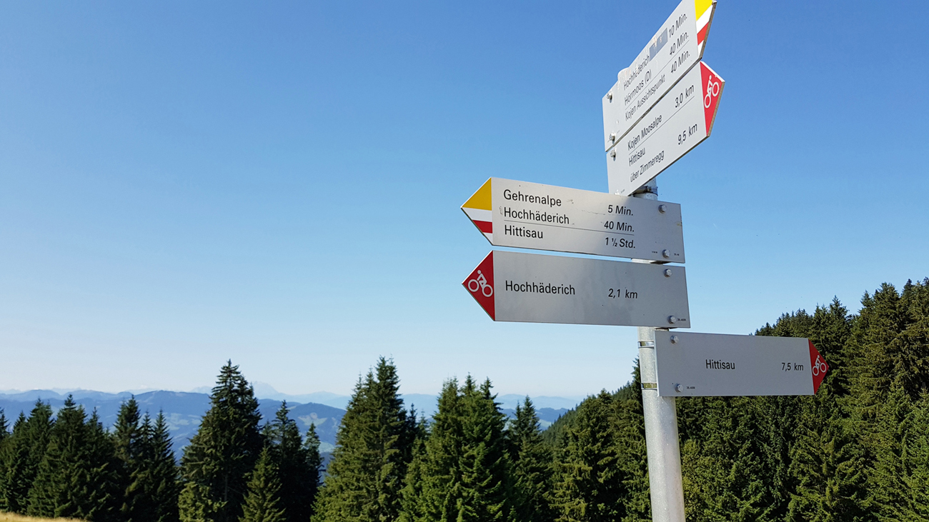 Aufstieg zum Hochhäderich, 16. August 2018