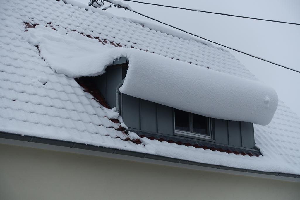 Schnee nördlich der Luftmassengrenze, 17. Februar 2018