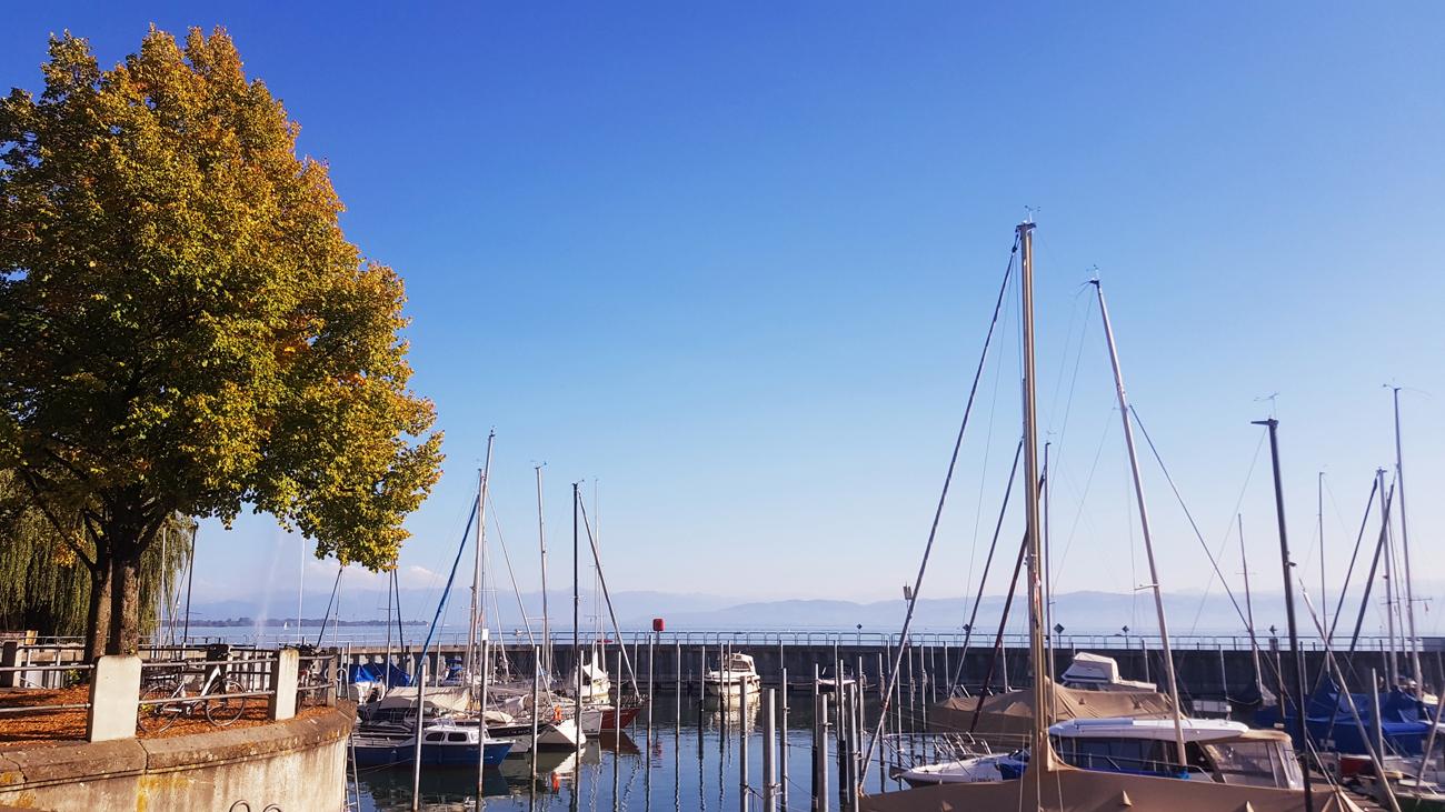 Der Hafen von Friedrichshafen, 12. September 2018