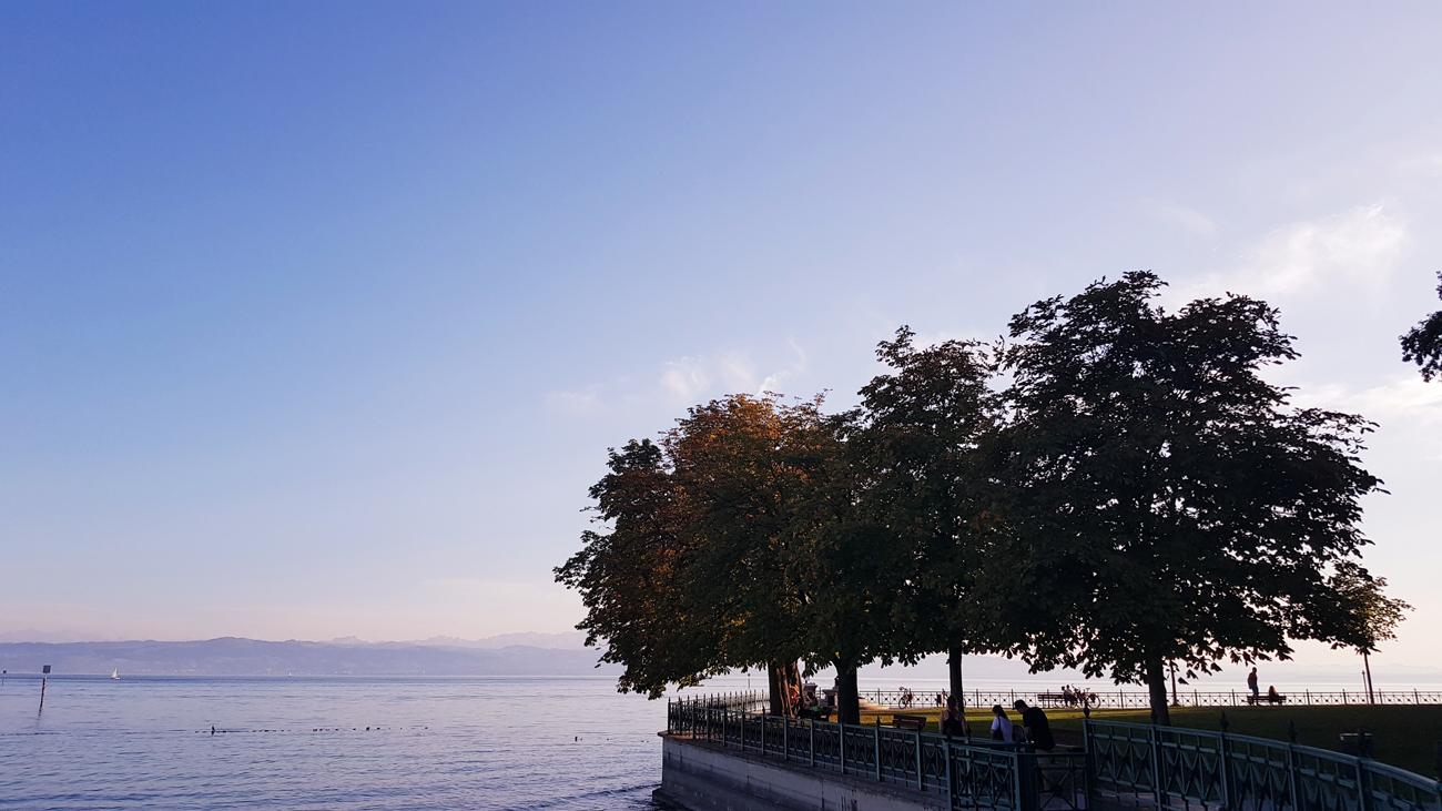Halbinsel der Rast, Uferpromenade, 12. September 2018