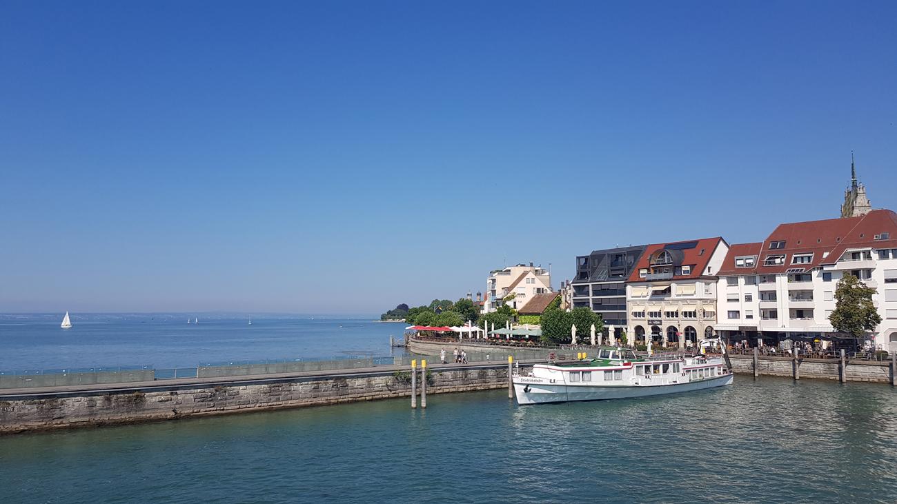 Hafeneinfahrt von Friedrichshafen, 24. Juli 2018