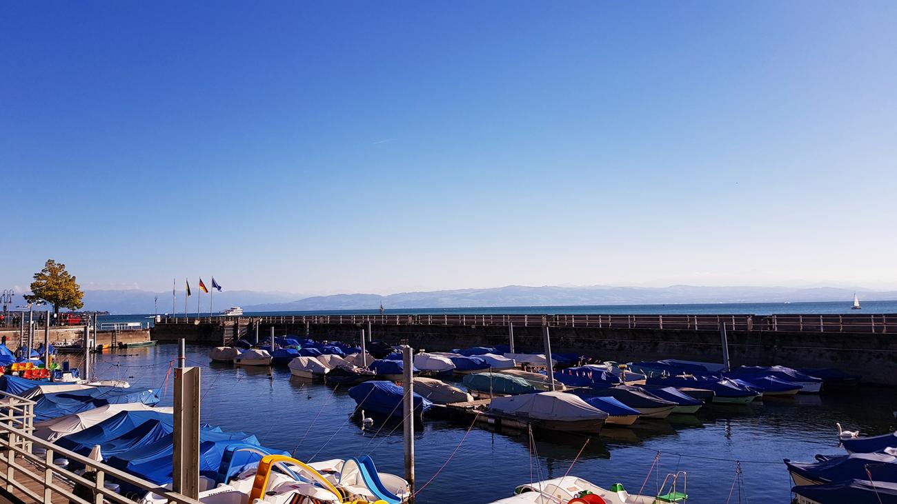 Der Hafen in frühherbstlicher Ruhe, Friedrichshafen, 25. September 2018