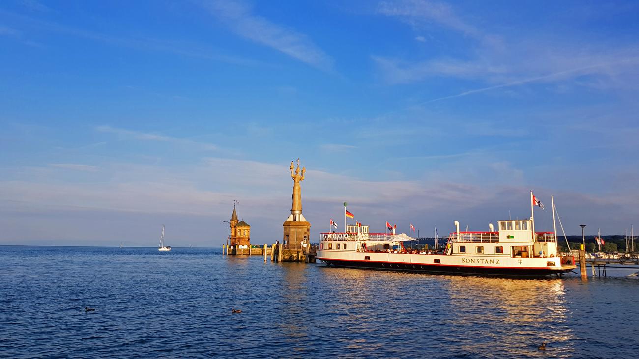 Blick auf den Hafen von Konstanz, 15. Juni 2018