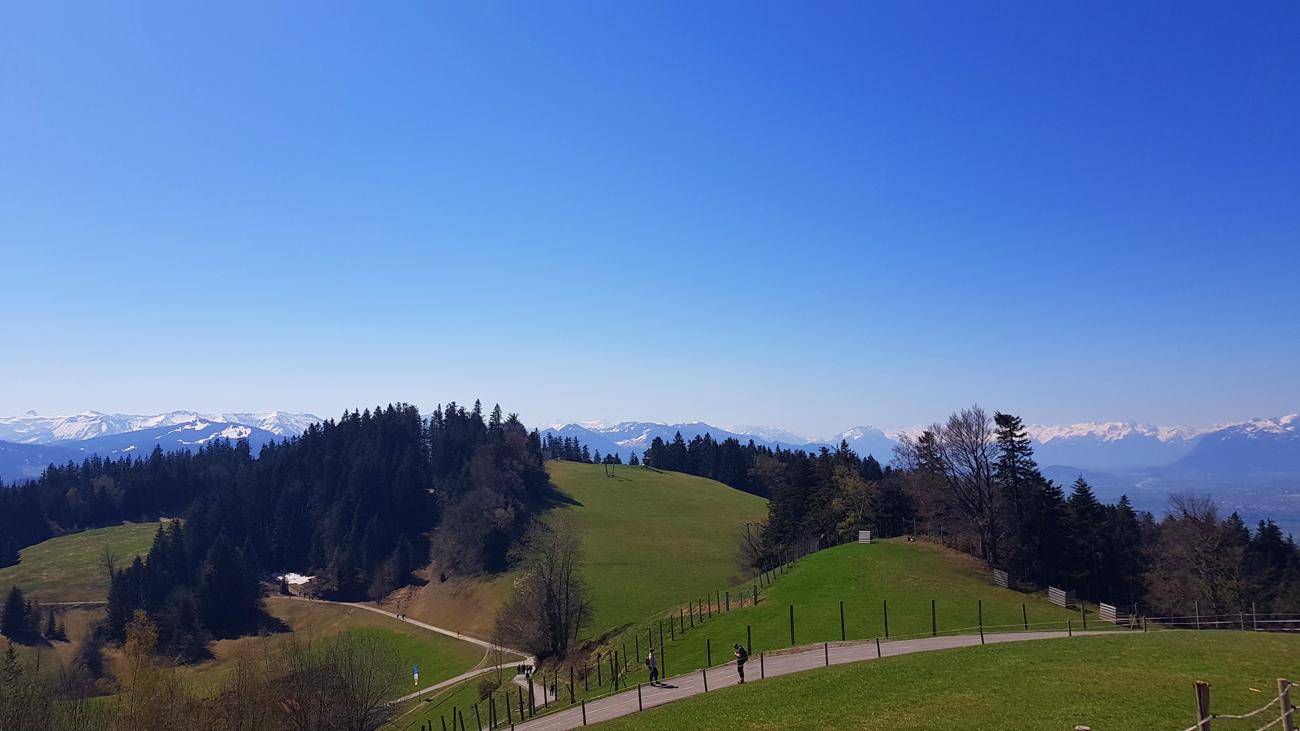 Der Pfändersattel von oben, 21. April 2019