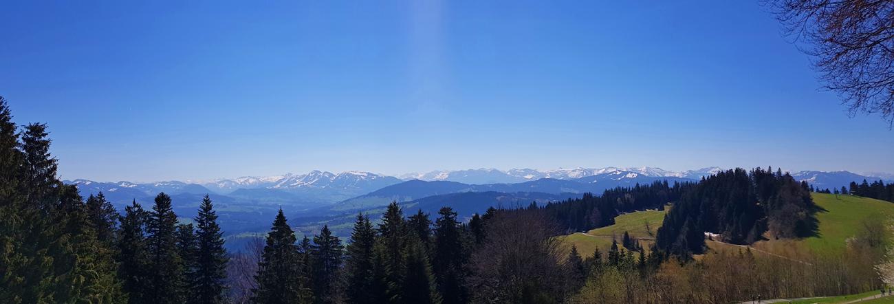 Pfänder-Panorama, 21. April 2019