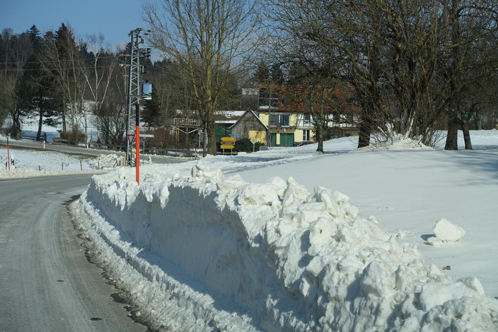 Schneeverwehungen am Höchsten: 26. Februar 2018
