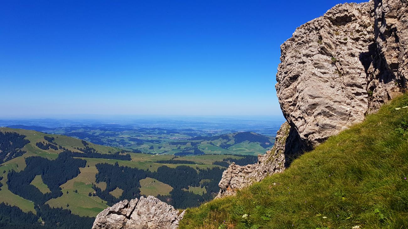 Blick nach Norden zum Bodensee, 18. August 2019