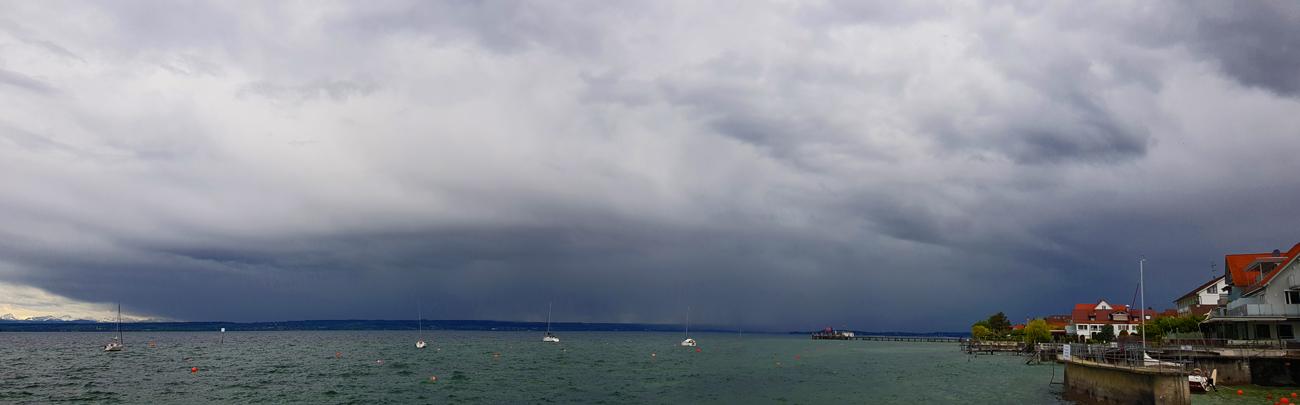 Gewitter über Konstanz, 11. Mai 2019