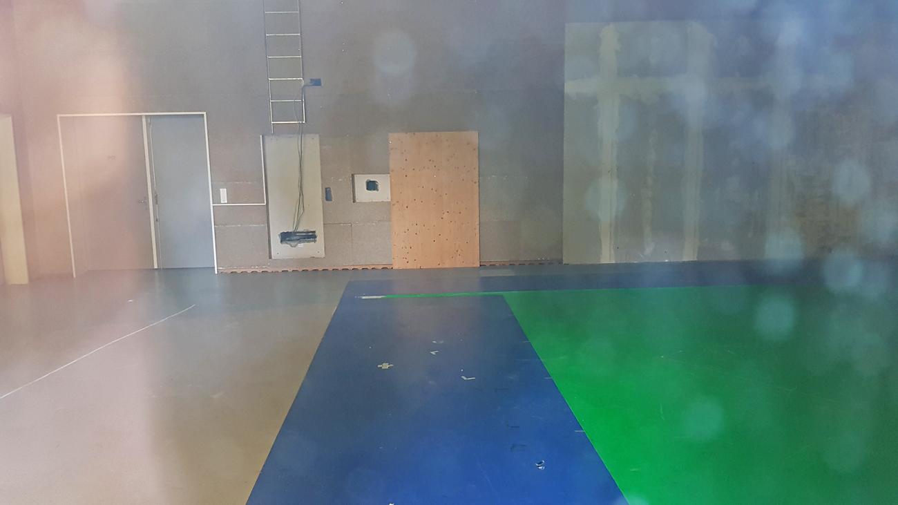 Verlassenes Wetterstudio mit Green-Screen, 25. August 2019