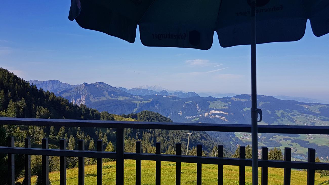 Ausblick vom Bergrestaurant Niedere, 31. August 2019