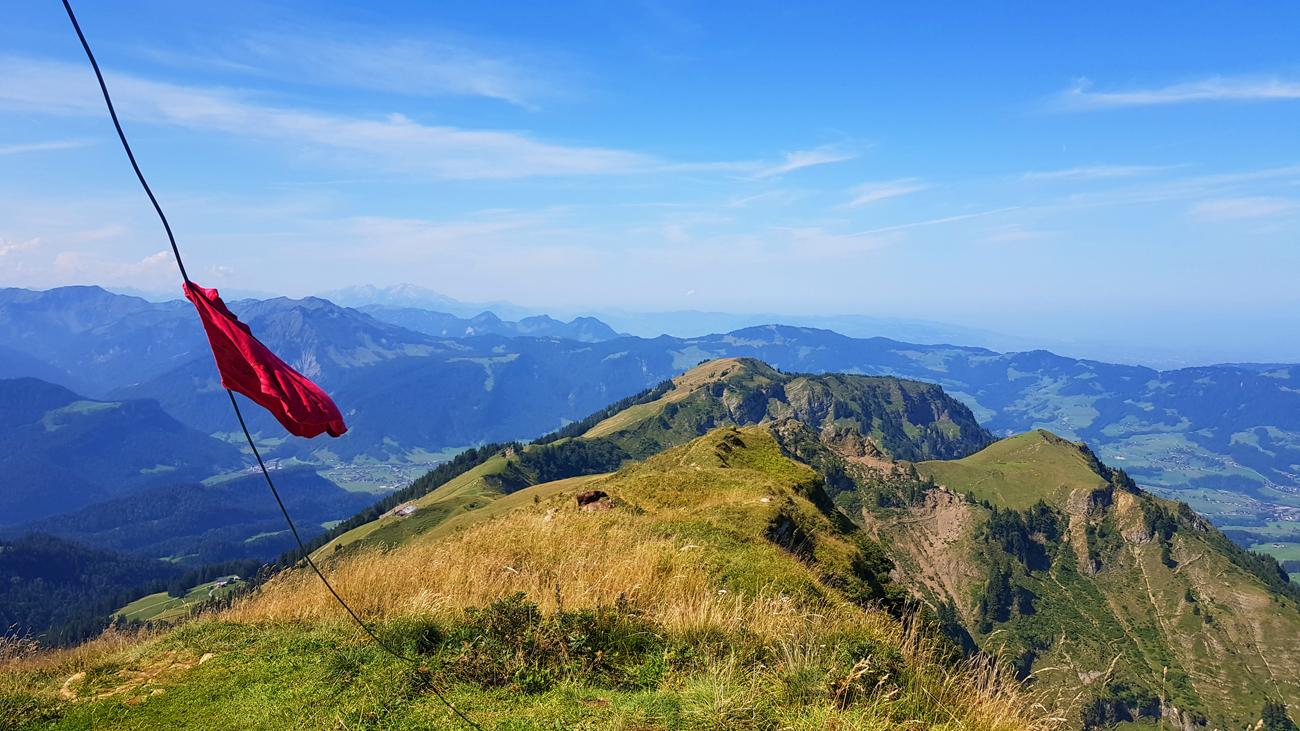 Blick vom Gipfel nach Westen, 31. August 2019