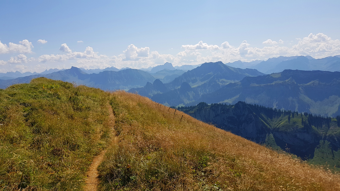 Blick vom Gipfel nach Osten, 31. August 2019